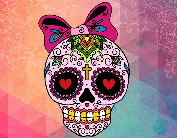 Disegno teschio messicano infiocchettata colorato da - Immagini fantasma a colori ...