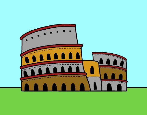 Disegno il colosseo di roma colorato da utente non for Colosseo da colorare