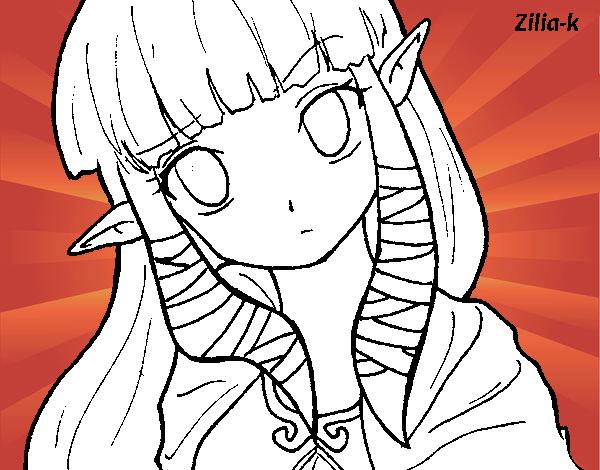 Disegno Principessa Zelda Colorato Da Utente Non Registrato Il 26 Di