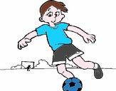 Disegno Giocare a calcio pitturato su gperin66