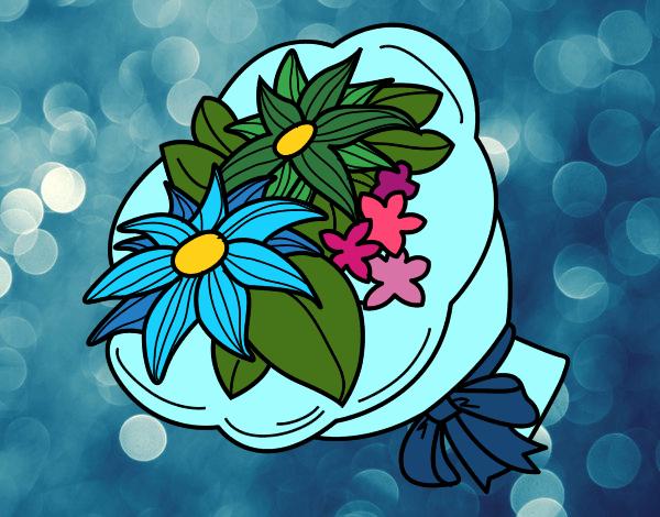 Disegno mazzo di chrysanthemum colorato da utente non for Disegni del mazzo del cortile