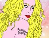 Disegno Shakira - Laundry Service pitturato su alessia07