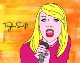 Disegno Taylor Swift cantando pitturato su alessia07