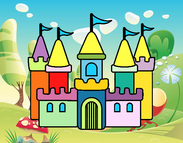 Disegno castello fantastico colorato da disegni200 il 16 for Disegni casa castello