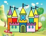 Disegno Castello fantastico pitturato su disegni200