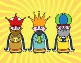 Disegno I 3 Re Magi pitturato su amirotto