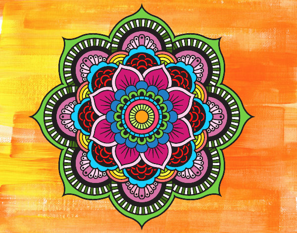 Mandala fiore orientale