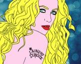 Disegno Shakira - Laundry Service pitturato su Alessia02