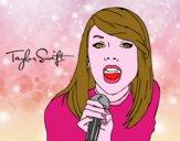 Disegno Taylor Swift cantando pitturato su Alessia02