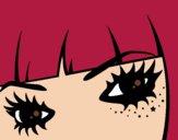 Disegno Emo occhi pitturato su Stefy67