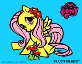 Disegno Fluttershy pitturato su francy04