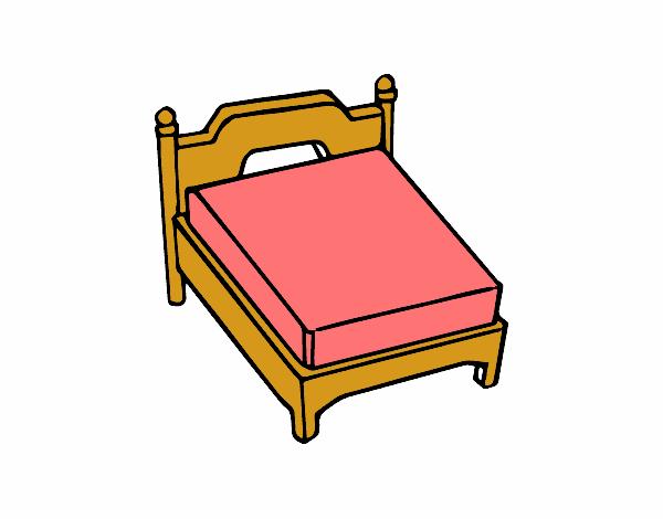 Disegno Letto matrimoniale senza cuscino colorato da Utente non registrato il...
