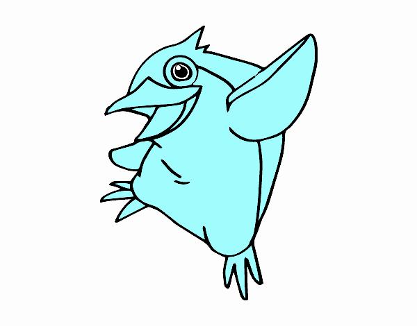 Disegno pinguino minore blu colorato da utente non for Disegno pinguino colorato