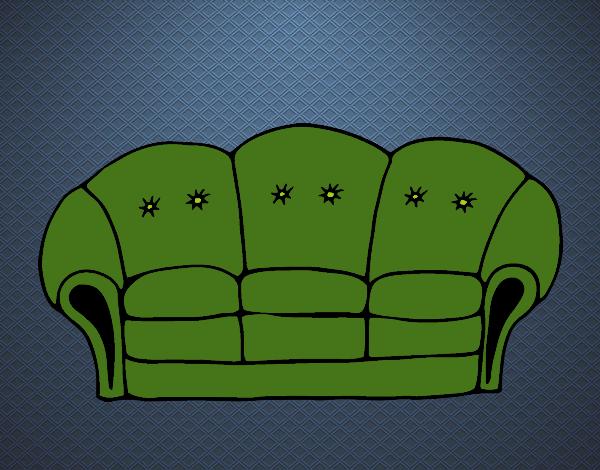 Disegno divano colorato da utente non registrato il 04 di for Divano disegno