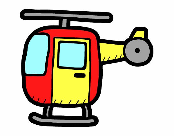 Elicottero Leggero : Disegno elicottero leggero colorato da utente non