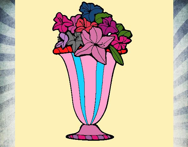 Disegno vaso di fiori 2a colorato da utente non registrato for Vaso di fiori disegno