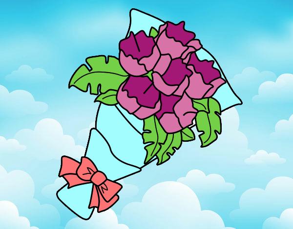 Disegno mazzo di garofani colorato da utente non for Disegni del mazzo del cortile
