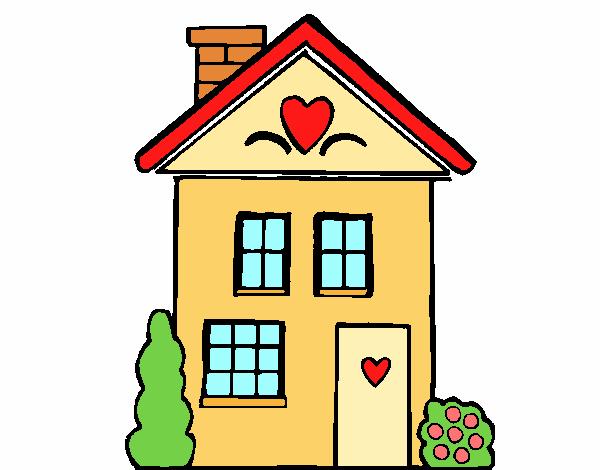 Disegno casa con cuori colorato da utente non registrato for Disegni di case toscane