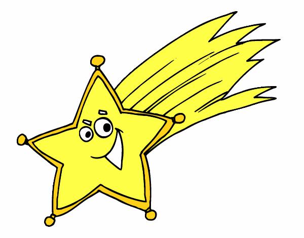 disegno stella cadente colorato da utente non registrato il 20 di ... - Disegno Stella Colorate