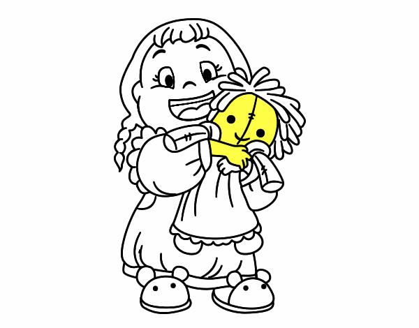 Disegno Bambina Con La Bambola Colorato Da Utente Non Registrato Il