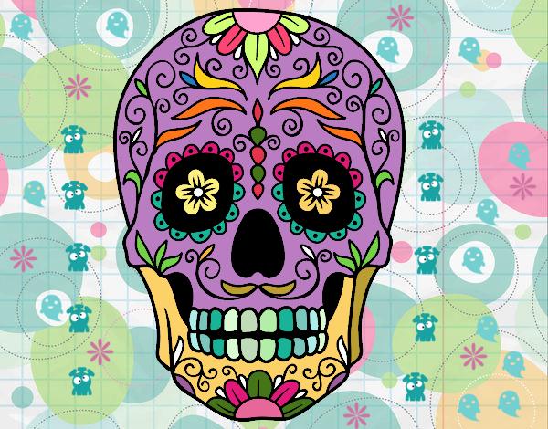 disegno teschio messicano colorato da siso il 18 di