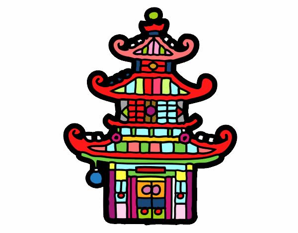 Cinese Disegno Colorato