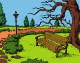 Disegno Parco paesaggistico pitturato su Rickino73