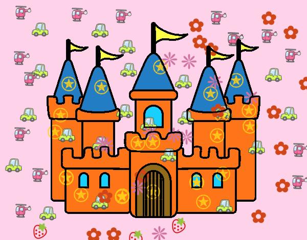 Disegno castello fantastico colorato da utente non for Disegni casa castello
