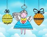 Angel e addobbi natalizi