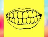 Disegno Bocca e denti  pitturato su rebecca24