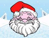 Disegno Una faccia di Babbo Natale pitturato su alessia04