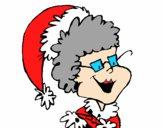 Nonna con il berretto di Natale