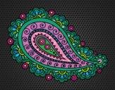 Disegno Mandala lacrima pitturato su gaga