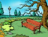 Disegno Parco paesaggistico pitturato su alessia07