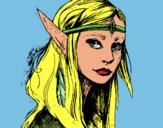 Disegno Principessa elfo pitturato su lavinia6