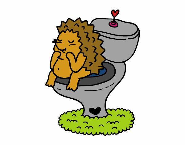 Disegno riccio in bagno colorato da utente non registrato for Ricci casa arredo bagno
