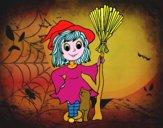 Costume da strega di Halloween