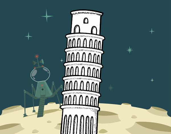 Disegno Di Torre Pendente Di Pisa Da Colorare Acolore Com