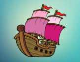 Disegno Barca a vela pitturato su bb10