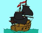 Disegno Barca  pitturato su bb10