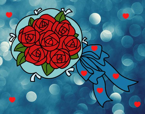 Disegno mazzo di gardenie colorato da utente non for Disegni del mazzo del cortile