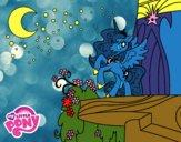 Disegno Principessa Luna  My Little Pony pitturato su bb10