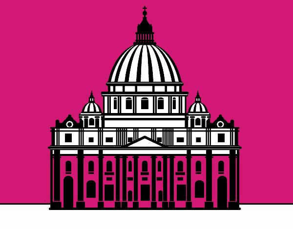 Disegno Basilica Di San Pietro In Vaticano Colorato Da