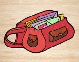 Disegno Borsa con lettere pitturato su gaga