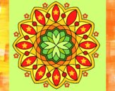 Disegno Mandala 3 pitturato su gaga