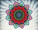 Mandala fiore natural