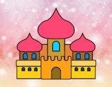 Disegno Castello moresco pitturato su bb10
