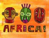 Disegno Tribù di Africa pitturato su gaga