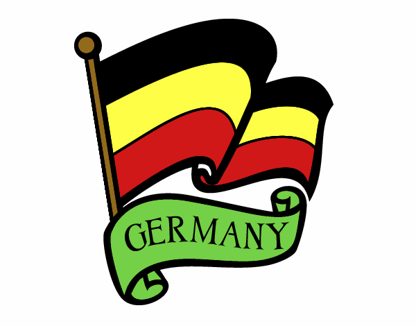 Disegno bandiera della germania colorato da utente non - Bandiera della pagina di colorazione della germania ...