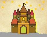 Disegno Castello medievale 2 pitturato su gaga